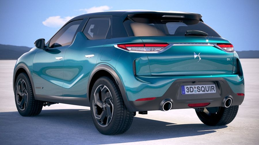 DS3 Crossback 2019 royalty-free 3d model - Preview no. 14