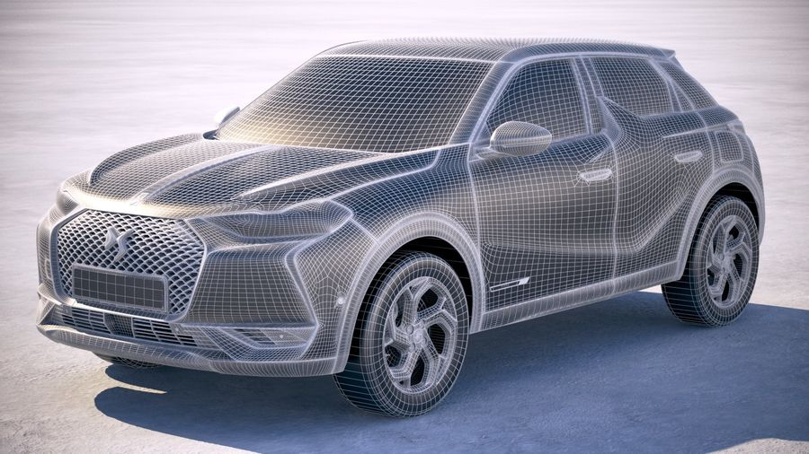 DS3 Crossback 2019 royalty-free 3d model - Preview no. 25