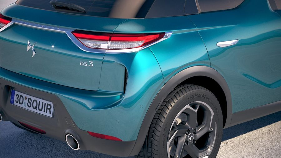 DS3 Crossback 2019 royalty-free 3d model - Preview no. 4
