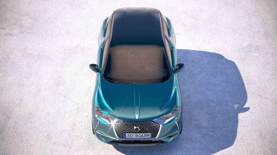 DS3 Crossback 2019 royalty-free 3d model - Preview no. 9