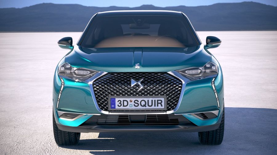 DS3 Crossback 2019 royalty-free 3d model - Preview no. 10