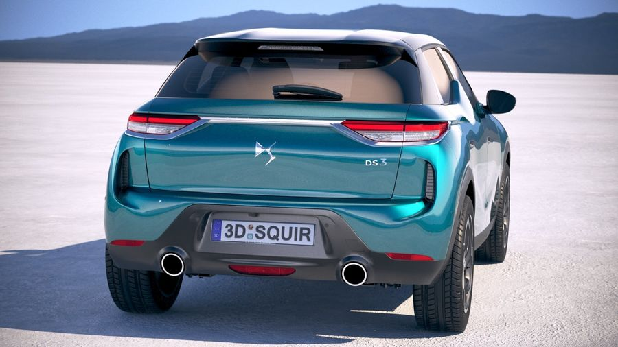 DS3 Crossback 2019 royalty-free 3d model - Preview no. 6