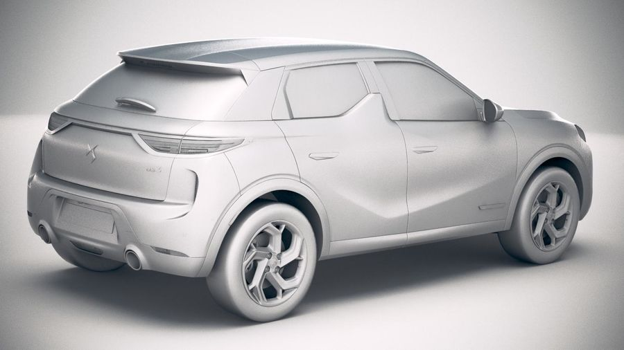 DS3 Crossback 2019 royalty-free 3d model - Preview no. 21