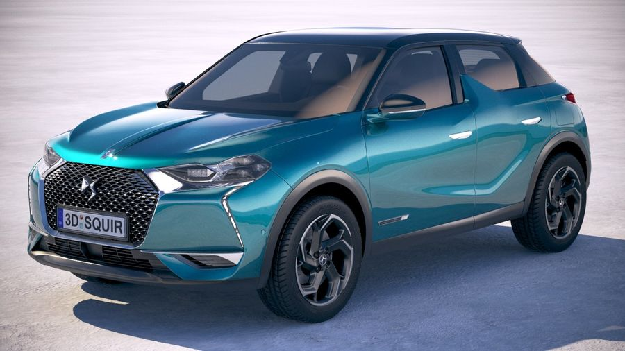 DS3 Crossback 2019 royalty-free 3d model - Preview no. 1