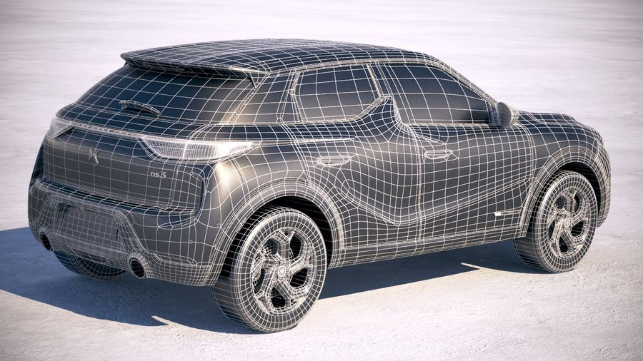 DS3 Crossback 2019 royalty-free 3d model - Preview no. 27