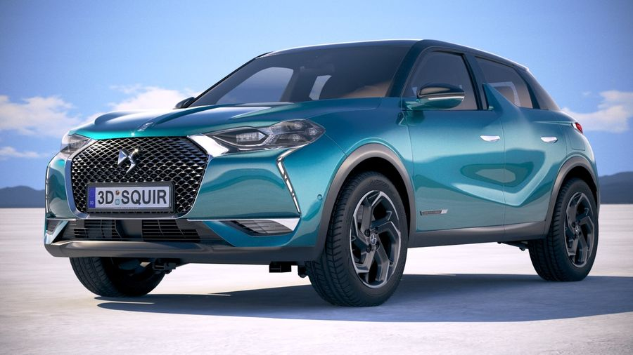 DS3 Crossback 2019 royalty-free 3d model - Preview no. 13