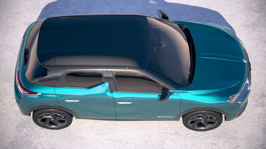 DS3 Crossback 2019 royalty-free 3d model - Preview no. 8