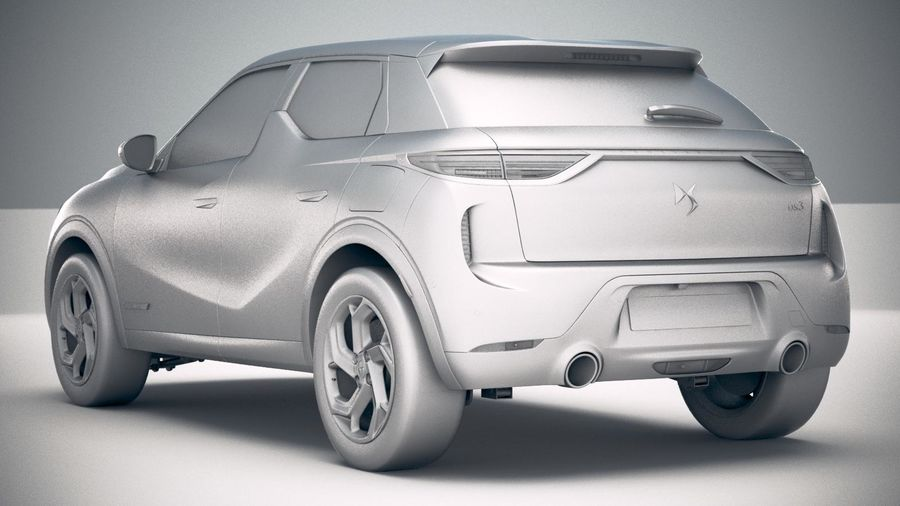 DS3 Crossback 2019 royalty-free 3d model - Preview no. 24