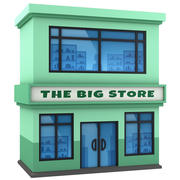 Cartoon building Store 3d model