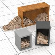 Logs for Grill 3d model