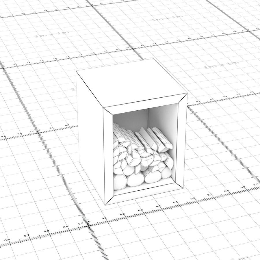 그릴 로그 royalty-free 3d model - Preview no. 6