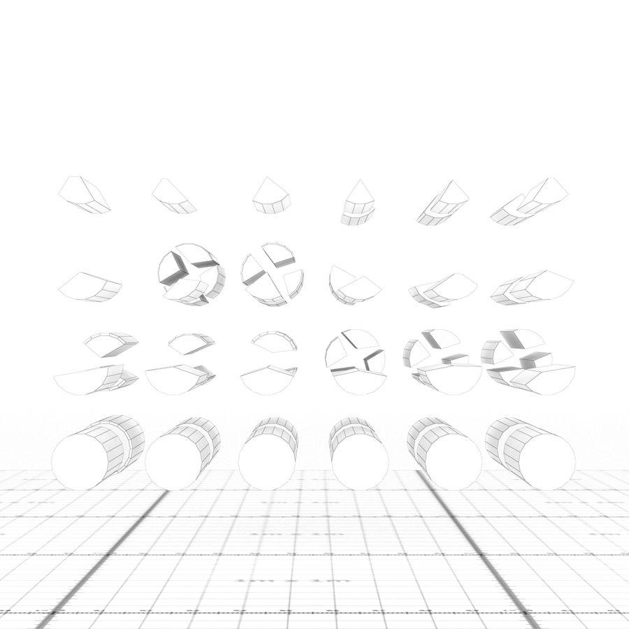 그릴 로그 royalty-free 3d model - Preview no. 10