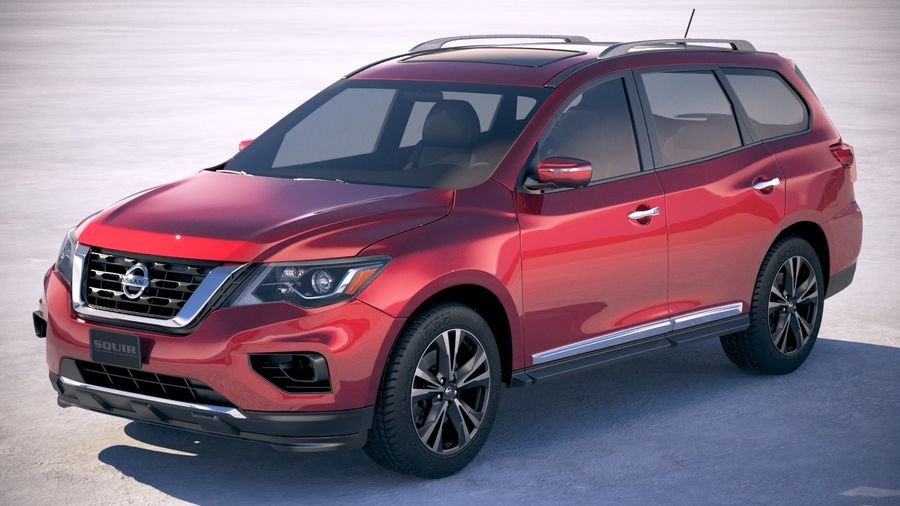 Nissan Pathfinder 2019 royalty-free 3d model - Preview no. 1
