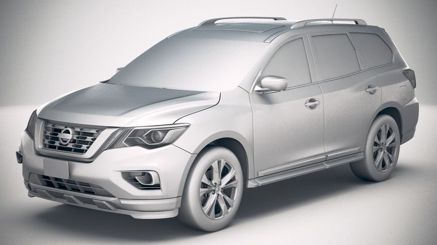 Nissan Pathfinder 2019 royalty-free 3d model - Preview no. 18