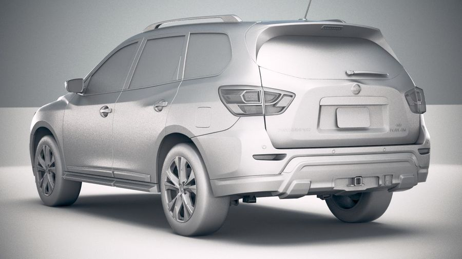 Nissan Pathfinder 2019 royalty-free 3d model - Preview no. 24