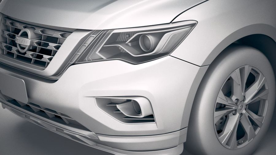 Nissan Pathfinder 2019 royalty-free 3d model - Preview no. 19