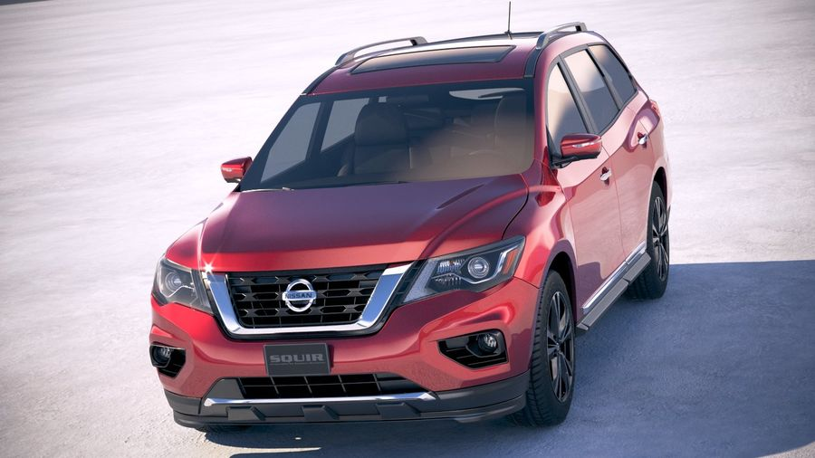 Nissan Pathfinder 2019 royalty-free 3d model - Preview no. 2