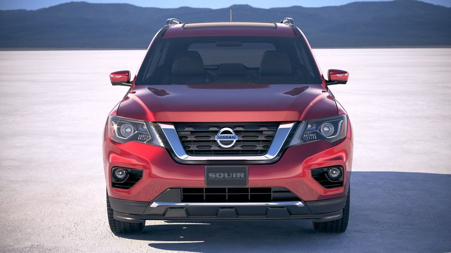 Nissan Pathfinder 2019 royalty-free 3d model - Preview no. 10