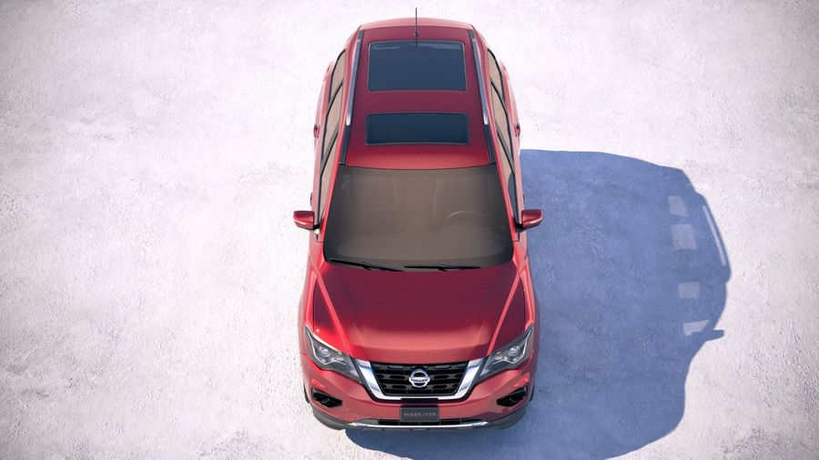 Nissan Pathfinder 2019 royalty-free 3d model - Preview no. 9