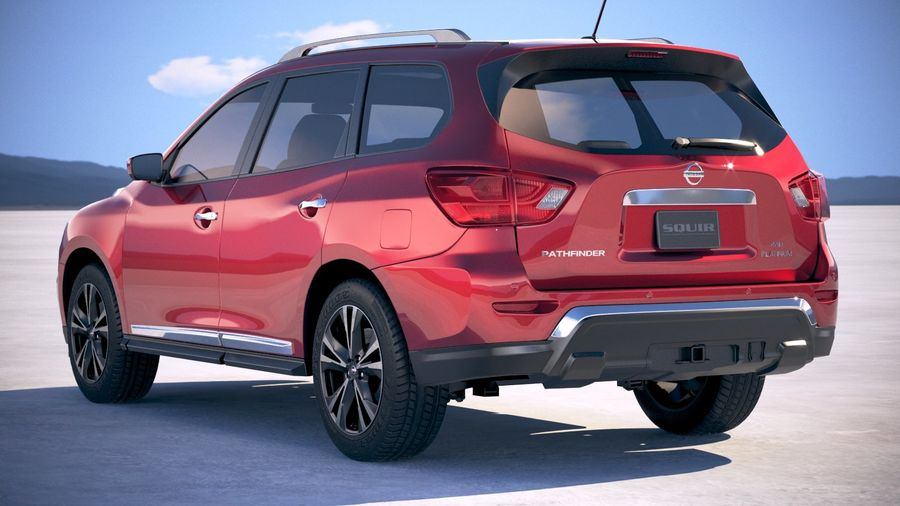 Nissan Pathfinder 2019 royalty-free 3d model - Preview no. 14