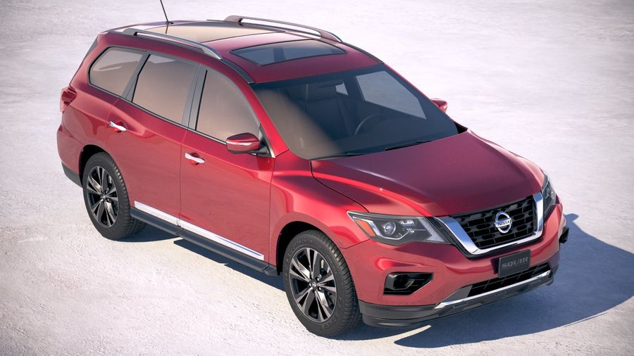 Nissan Pathfinder 2019 royalty-free 3d model - Preview no. 12