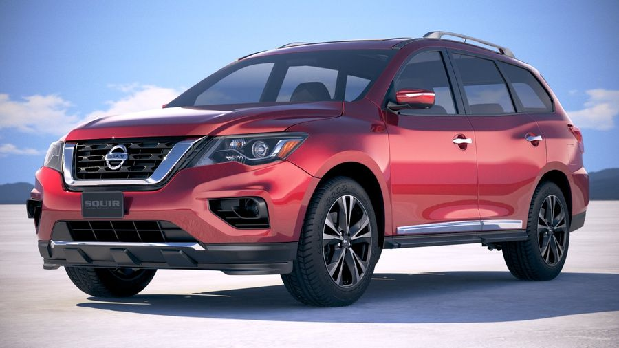 Nissan Pathfinder 2019 royalty-free 3d model - Preview no. 13