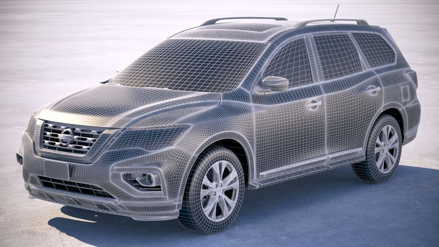 Nissan Pathfinder 2019 royalty-free 3d model - Preview no. 25