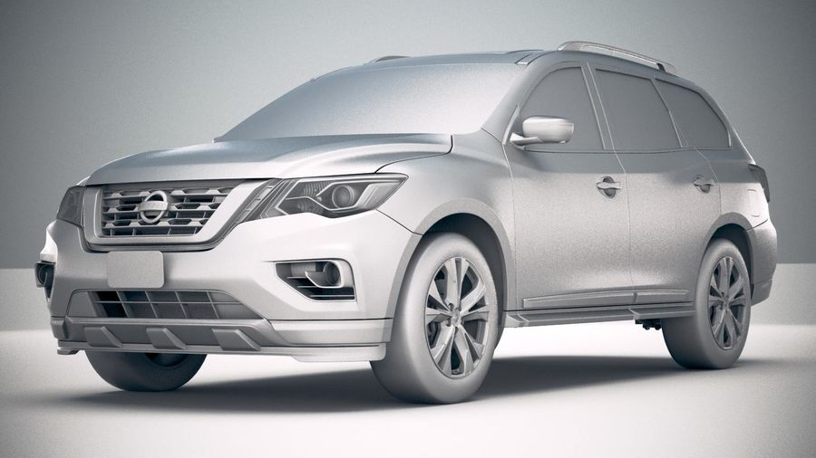 Nissan Pathfinder 2019 royalty-free 3d model - Preview no. 23
