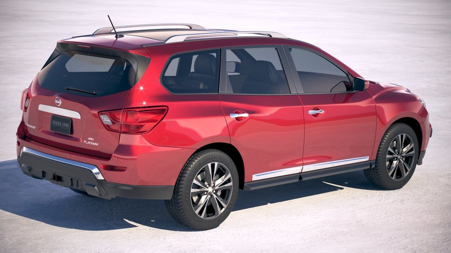 Nissan Pathfinder 2019 royalty-free 3d model - Preview no. 5