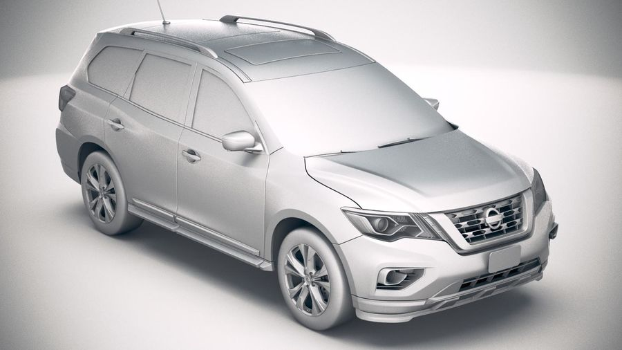 Nissan Pathfinder 2019 royalty-free 3d model - Preview no. 22