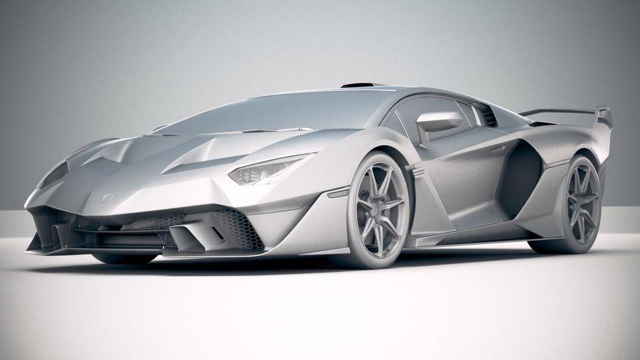 Lamborghini SC18 2019 royalty-free 3d model - Preview no. 23