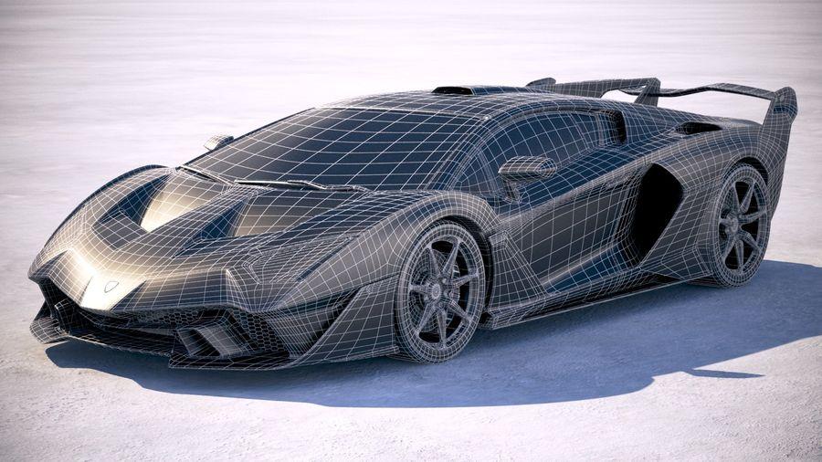 Lamborghini SC18 2019 royalty-free 3d model - Preview no. 27