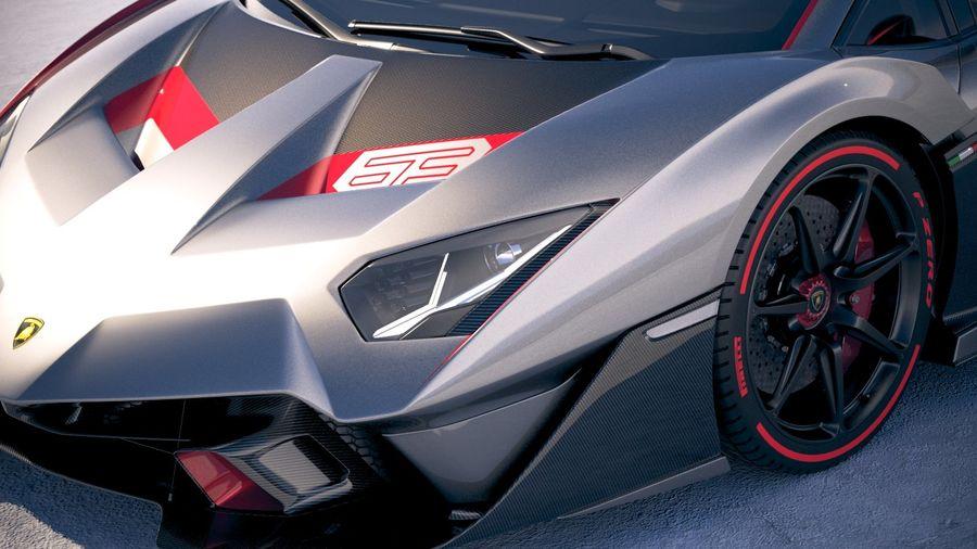 Lamborghini SC18 2019 royalty-free 3d model - Preview no. 3
