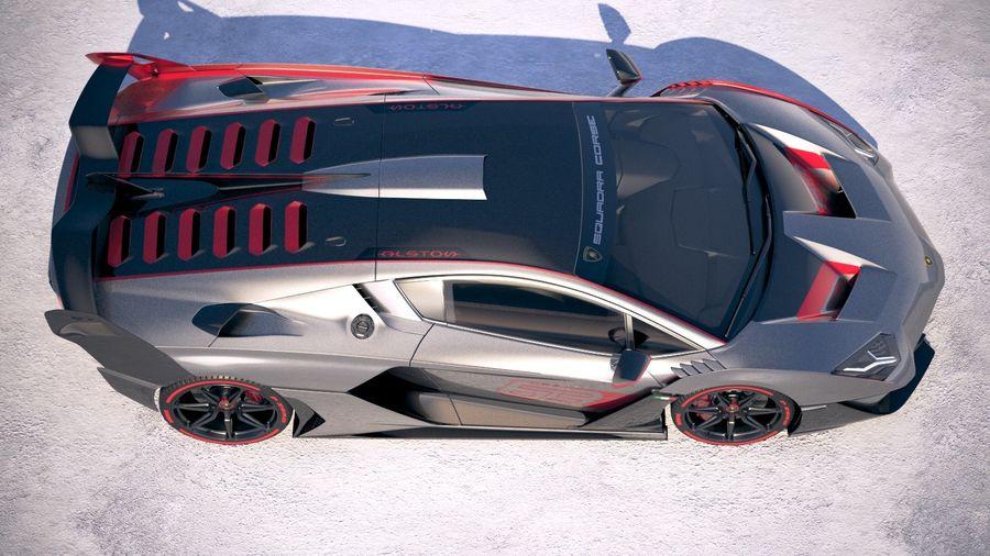 Lamborghini SC18 2019 royalty-free 3d model - Preview no. 8