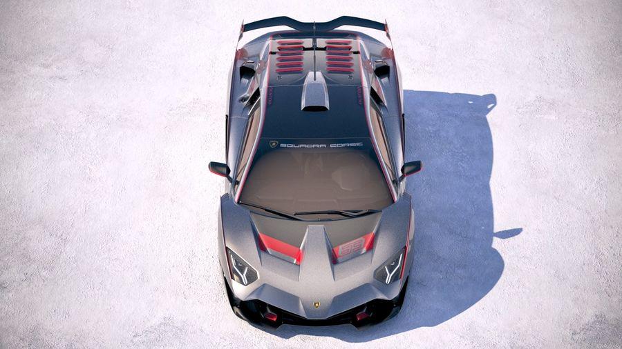 Lamborghini SC18 2019 royalty-free 3d model - Preview no. 9