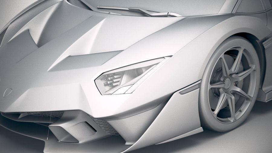 Lamborghini SC18 2019 royalty-free 3d model - Preview no. 19