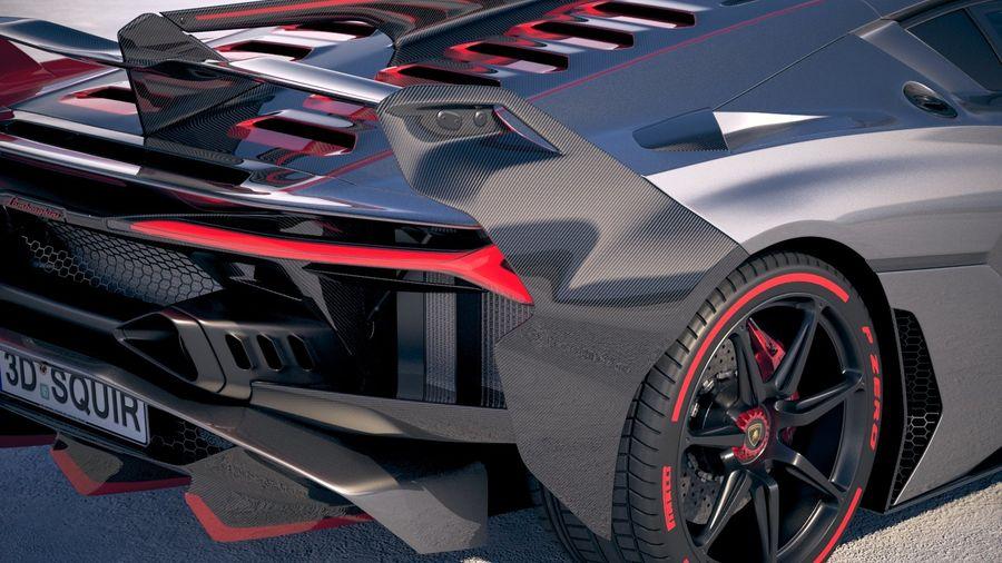 Lamborghini SC18 2019 royalty-free 3d model - Preview no. 4