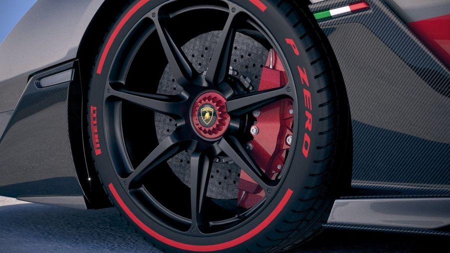 Lamborghini SC18 2019 royalty-free 3d model - Preview no. 15