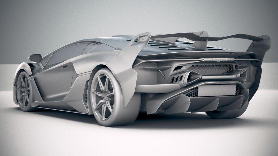 Lamborghini SC18 2019 royalty-free 3d model - Preview no. 24