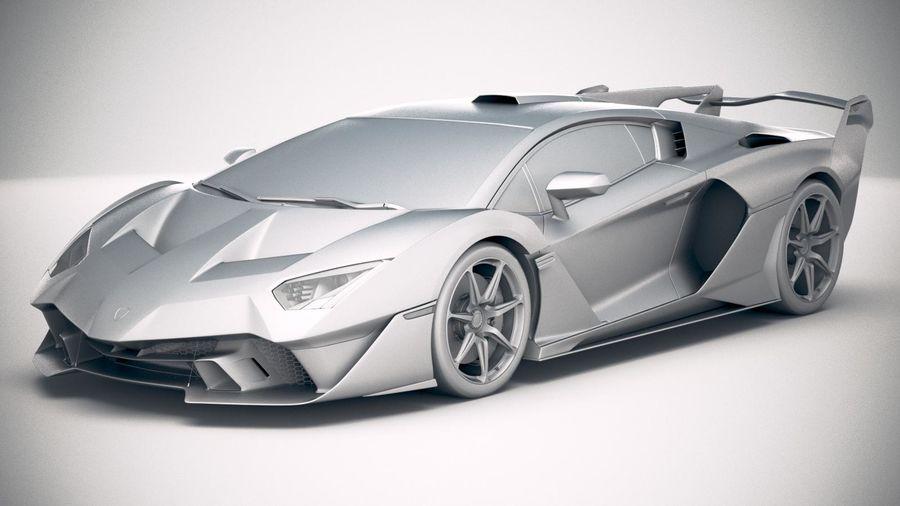 Lamborghini SC18 2019 royalty-free 3d model - Preview no. 18