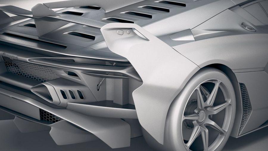 Lamborghini SC18 2019 royalty-free 3d model - Preview no. 20