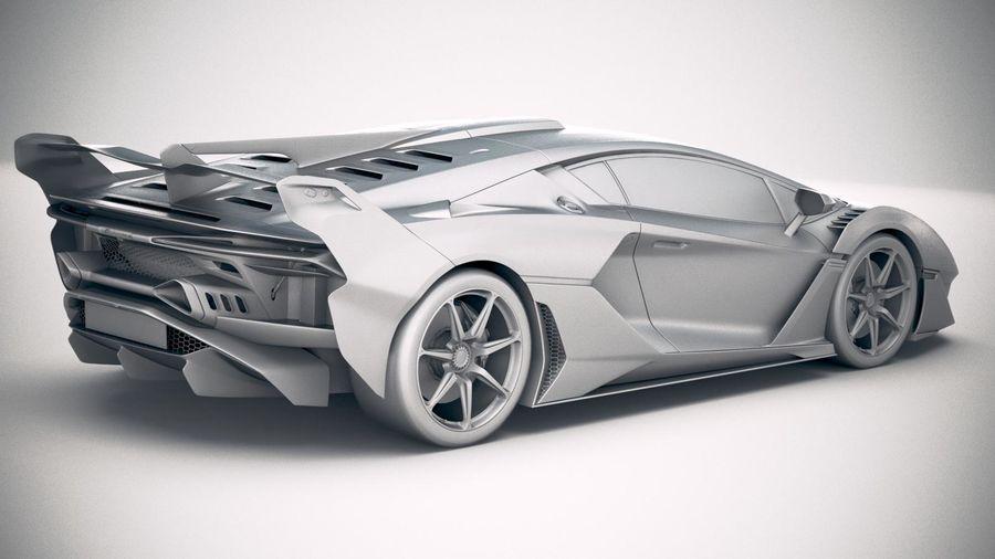 Lamborghini SC18 2019 royalty-free 3d model - Preview no. 21