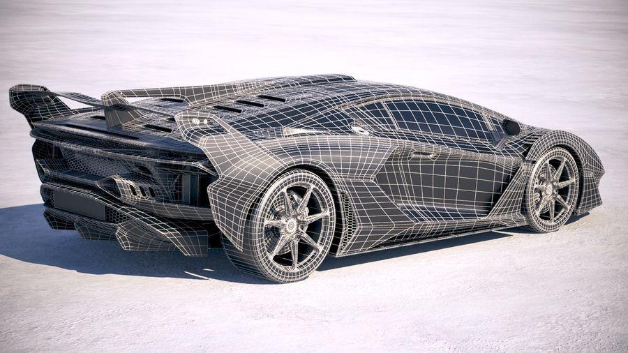 Lamborghini SC18 2019 royalty-free 3d model - Preview no. 28