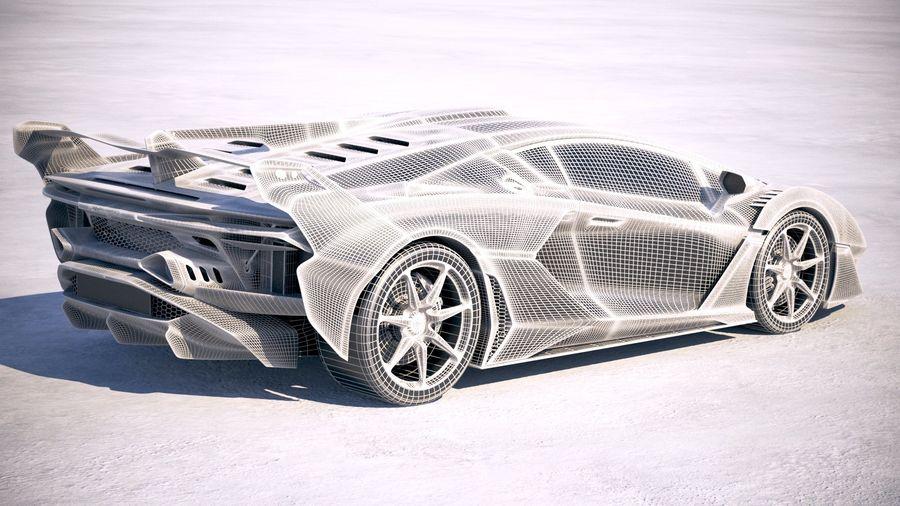 Lamborghini SC18 2019 royalty-free 3d model - Preview no. 26