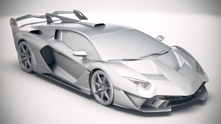 Lamborghini SC18 2019 royalty-free 3d model - Preview no. 22