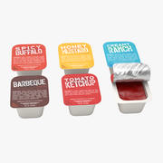 Sauce Cups 3d model