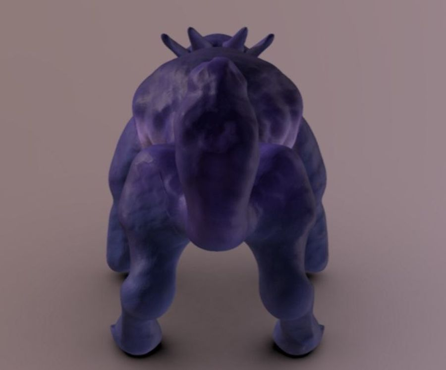 quadruped fantasy animal royalty-free 3d model - Preview no. 5