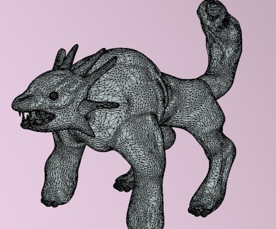 quadruped fantasy animal royalty-free 3d model - Preview no. 8