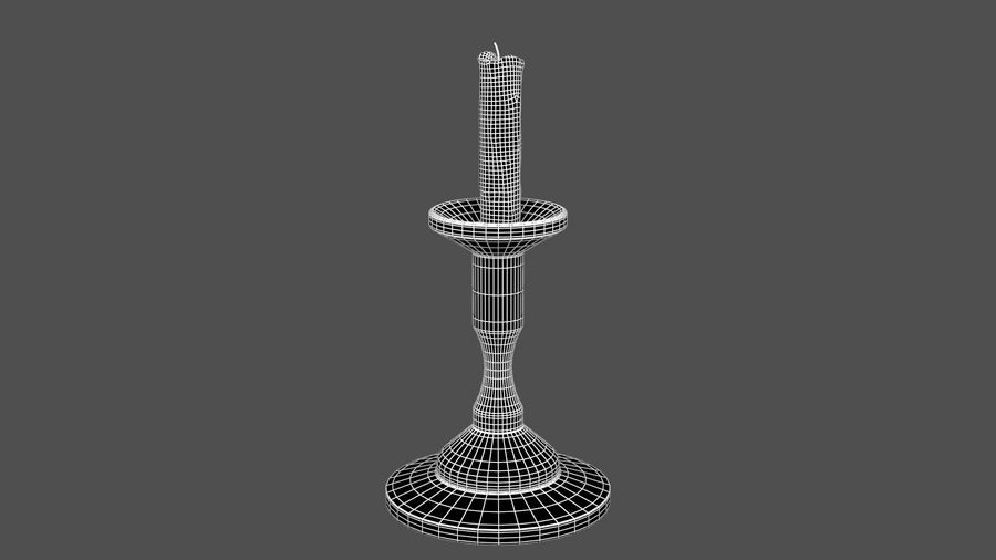 Candlestick with Candle royalty-free 3d model - Preview no. 5