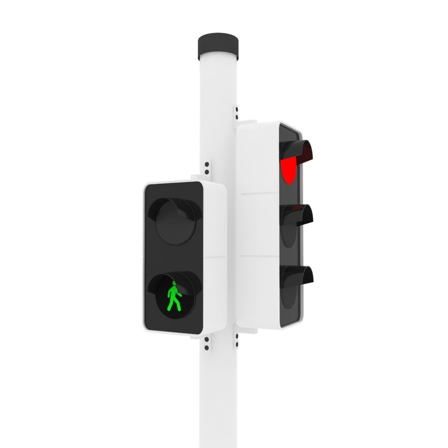 Traffic Signal royalty-free 3d model - Preview no. 2